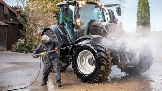 Hidrolimpiadoras para maquinaria agrícola